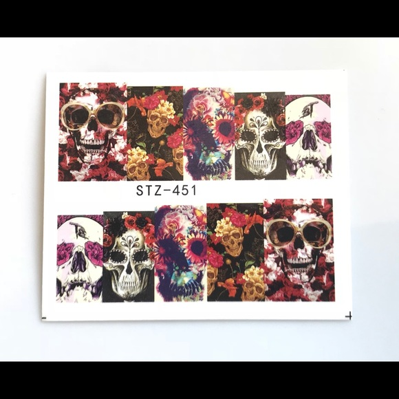Makeup Sugar Skull Nail Art Decals Poshmark